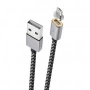 CABO MICRO USB COM CONECTOR MAGNÉTICO 1,5M CINZA - MIC15MG - GEONAV