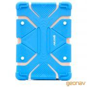 """Capa Universal de Silicone para Tablet 9""""-12"""" Azul - Geonav"""