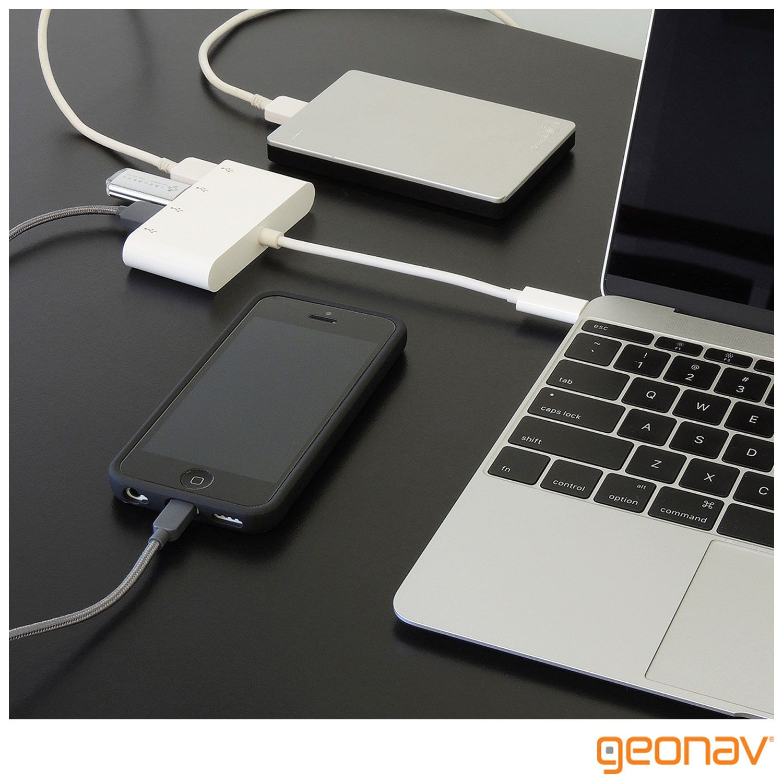 Cabo Adaptador USB-C para 4X USB'S F - UCA07 - Geonav