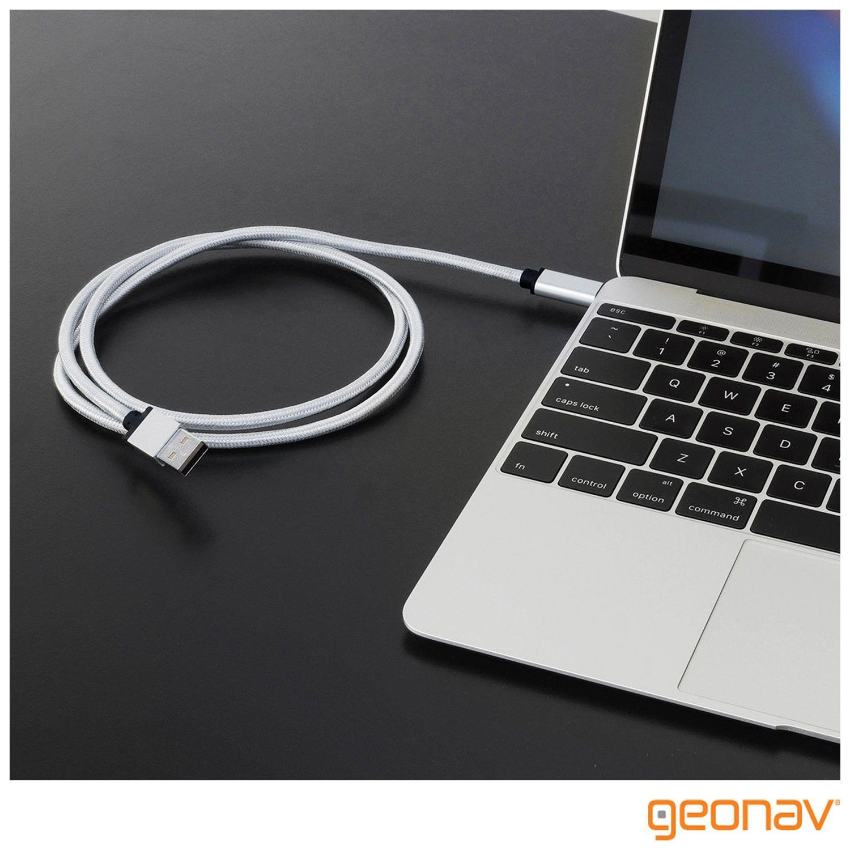 Cabo USB-C para USB 3.1, Nylon Trançado 1,5 m - UCC02 - Geonav