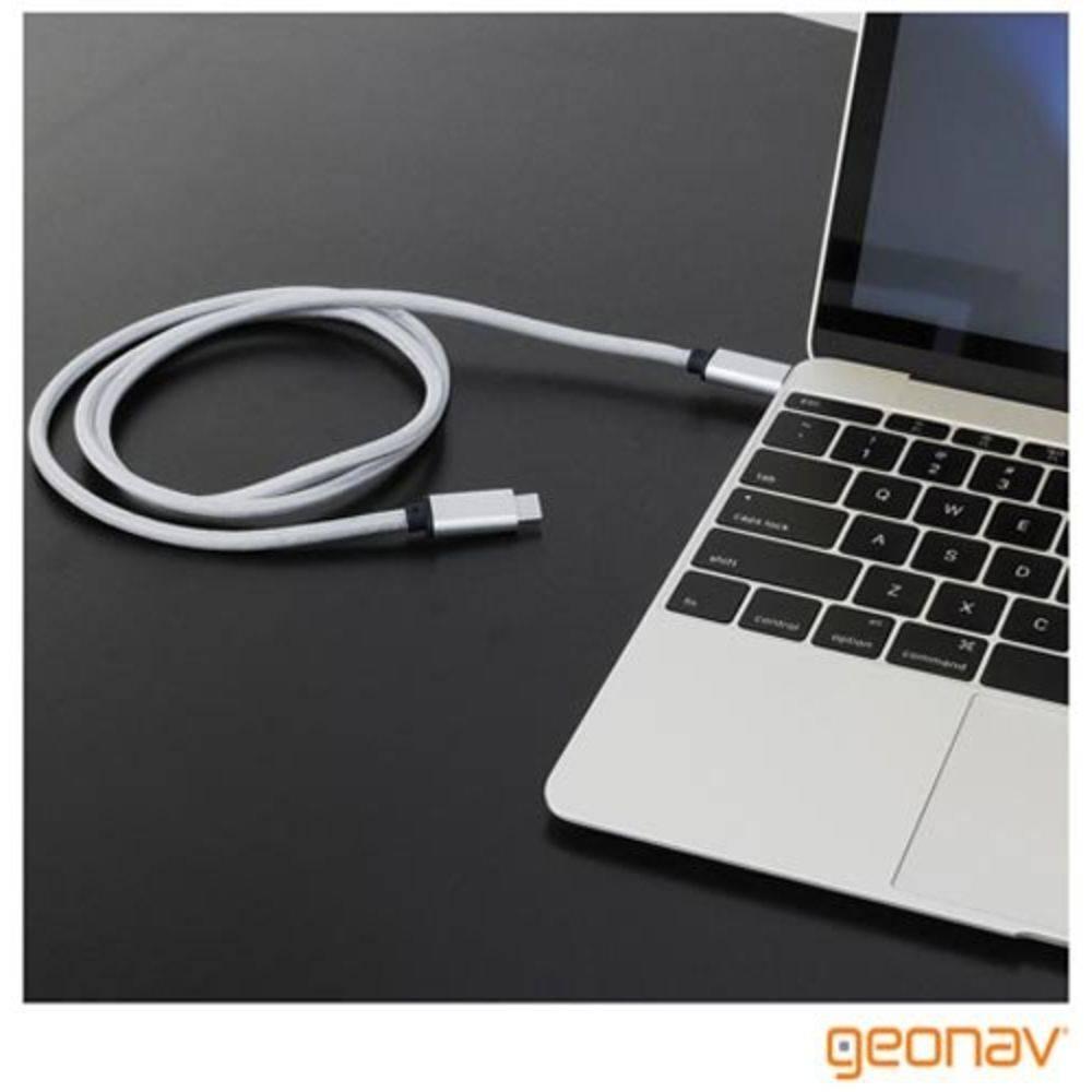 Cabo USB-C para USB-C, Nylon Trançado 1,5 m - UCC01 - Geonav