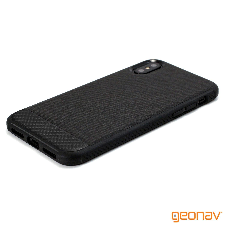 Capa Carbon X Iphone X Black - IPSXB - Geonav
