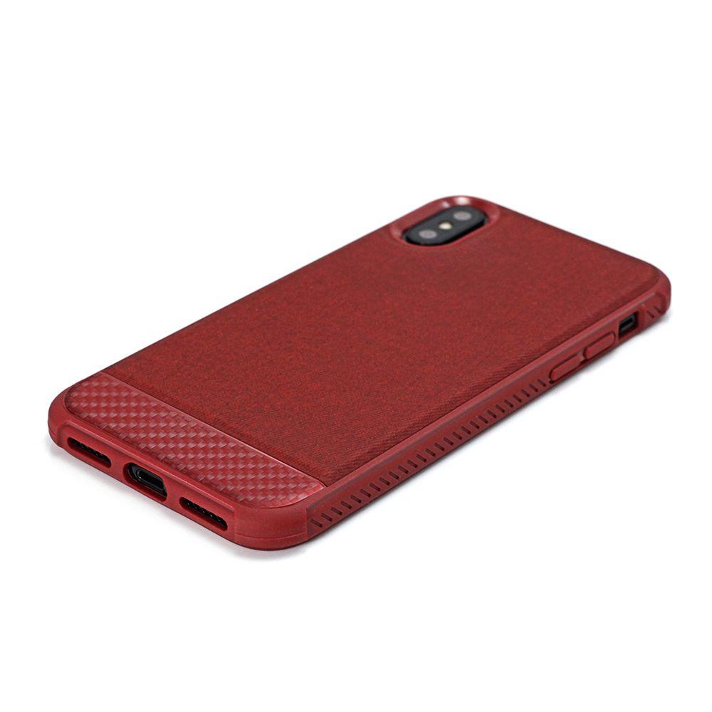 Capa Carbon X Iphone X Red - IPSXR - Geonav