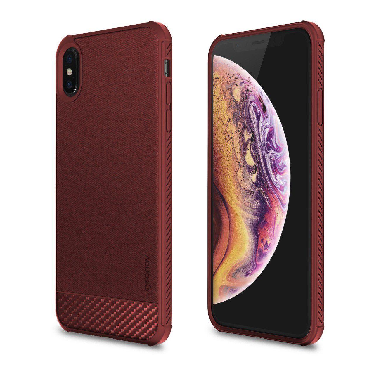 Capa Carbon X Compatível com iPhone XS MAX Red - IPSXMR - Geonav