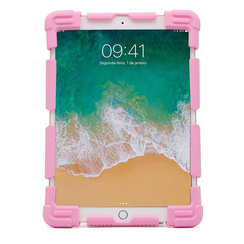 """Capa Universal de Silicone para Tablet 7""""-7.9"""" Rosa - Geonav"""