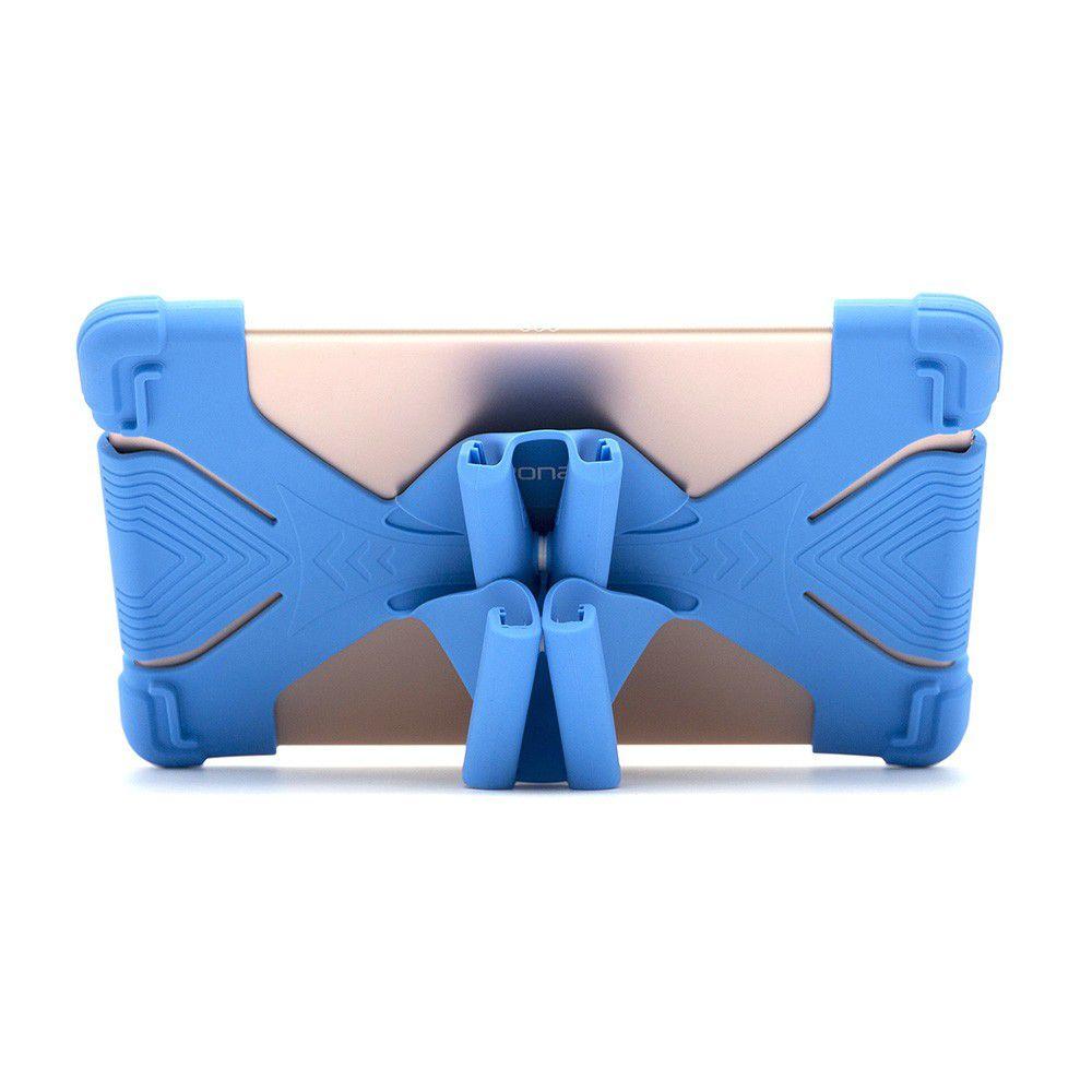 """Capa Universal de Silicone para Tablet 7""""-7.9"""" Azul - Geonav"""