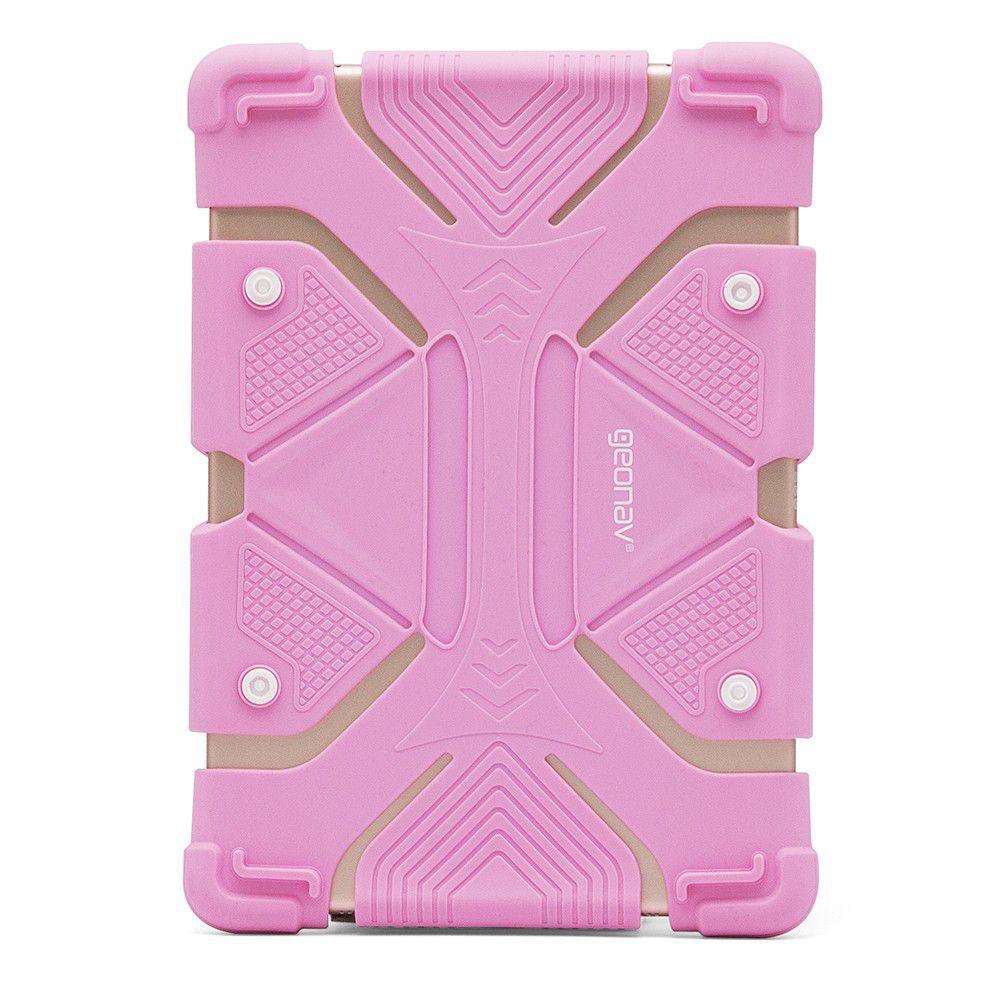 """Capa Universal de Silicone para Tablet 9""""-12"""" Rosa - Geonav"""