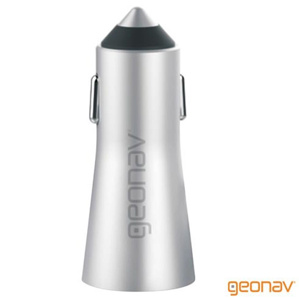 Carregador Veicular Universal 2 Sa USB 3.4A Alumínio - Geonav