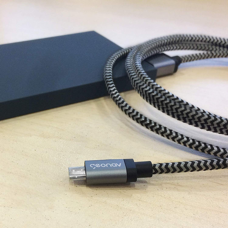Conjunto de Cabos Micro USB com 2,0 e 1,0 M - Geonav