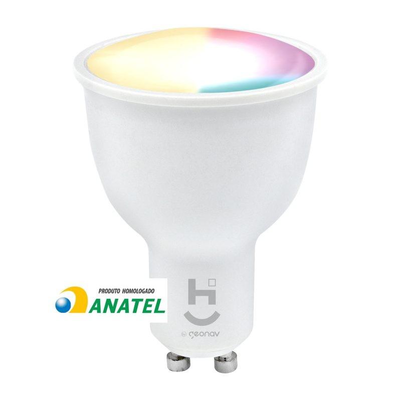 LÂMPADA INTELIGENTE RGB+ WDICRÓICA BIVOLT - HISBGU10 - HI GEONAV