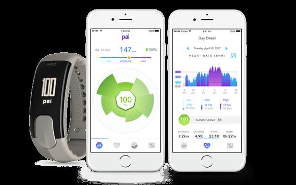 Relógio Inteligente c/Monitor de frequência cardíaca + atividade Mio Slice CINZA