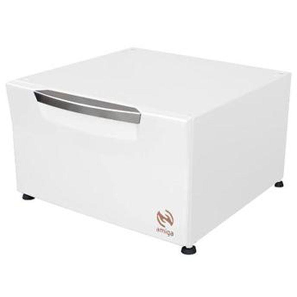 Pedestal Organizdor Sempre Amiga Cor Branca  P/Lava e Seca  Samsung de 10,1Kg - Amiga