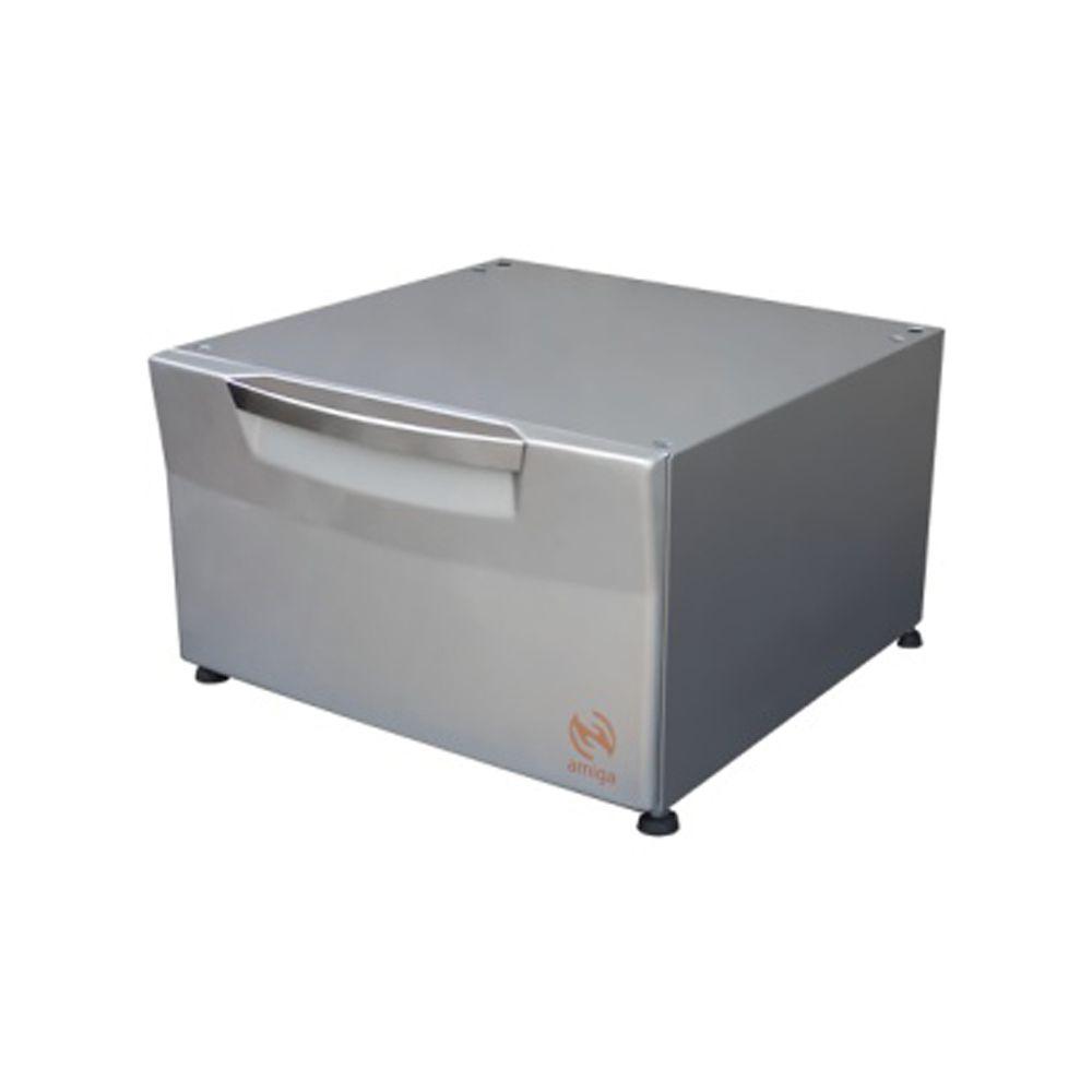 Pedestal Cor Prata Compatível com Lava e Seca Electrolux de 9,0 Kg Modelo LSI09  - Amiga