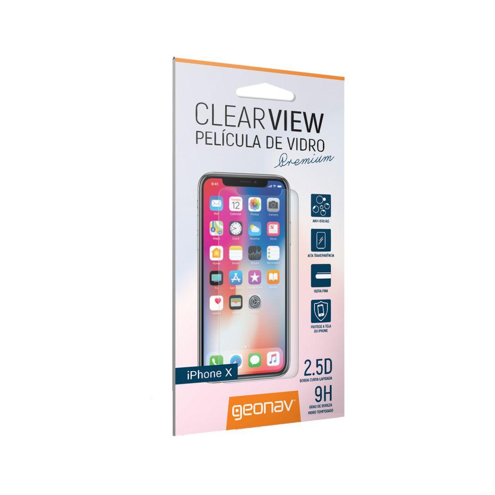 Película de Vidro Premium Geonav para iPhone X