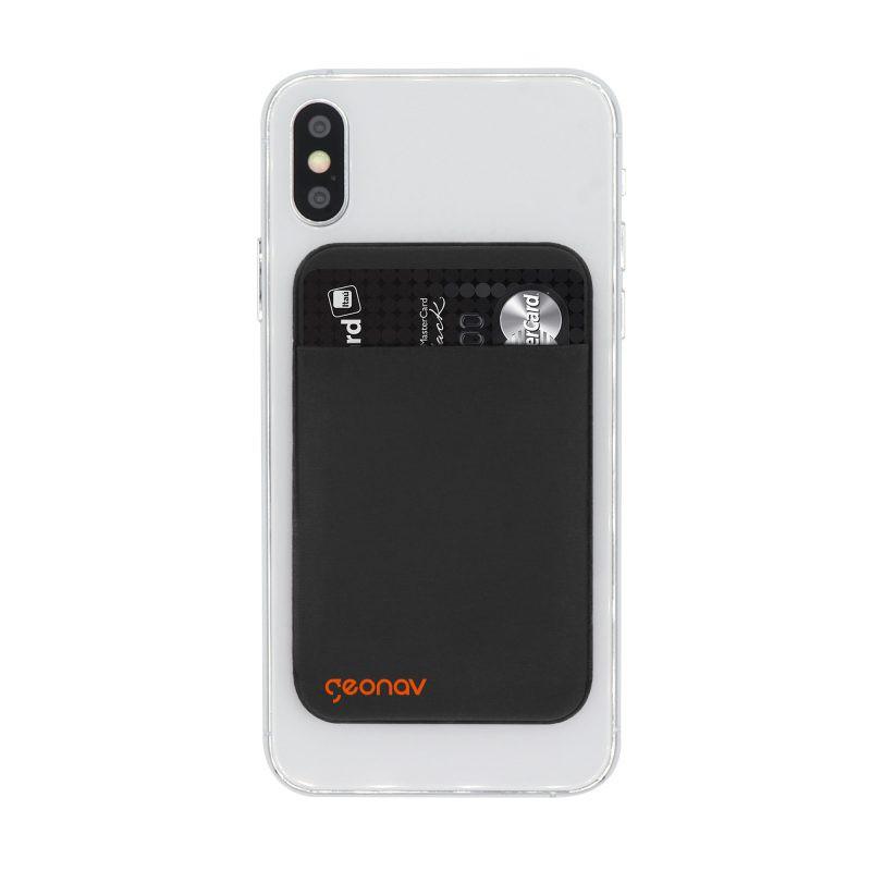 Porta Cartão Universal P/Smartphones Lycra - PRETO
