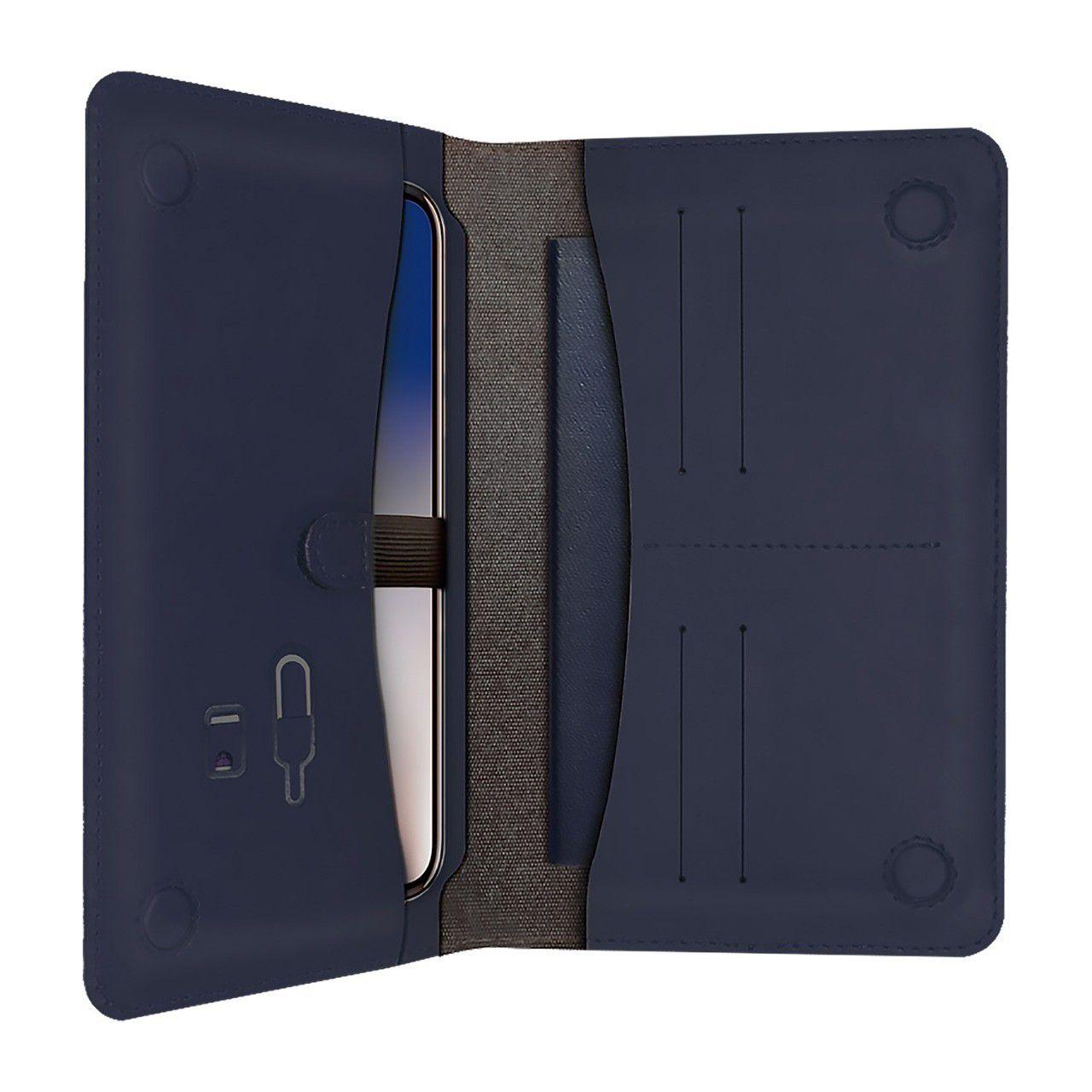 Porta Passaporte e Smartphone Midnight Blue - Geonav