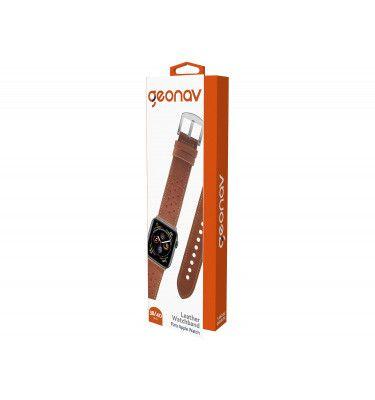 Pulseira Geonav Compatível com Apple Watch 38/40 Caramelo com vermelho
