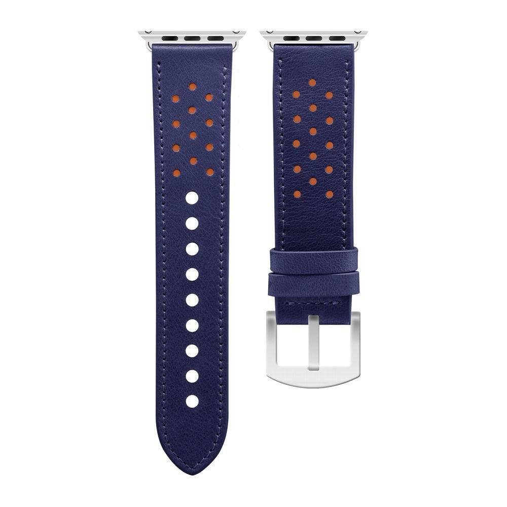 Pulseira Geonav Compatível com Apple Watch 38/40 Midnight blue com laranja