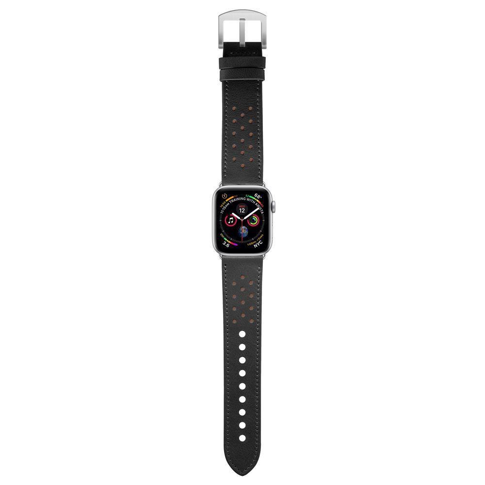 Pulseira Geonav para Apple Watch 42/44 Preto com caramelo