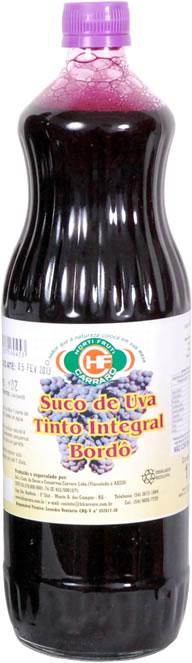 Suco de Uva Bordô Integral Orgânico 1 Litro – Carraro