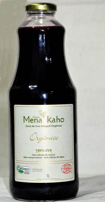 Suco de Uva Integral Orgânico  MENA KAHO 1L