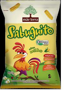 SABUGUITO - Salgadinho Integral Orgânico sabor Natural de Milho 45g
