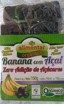 Barrinhas de Banana com Açaí 150g