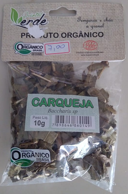 CARQUEJA ORGÂNICA QUINTAL VERDE 10g