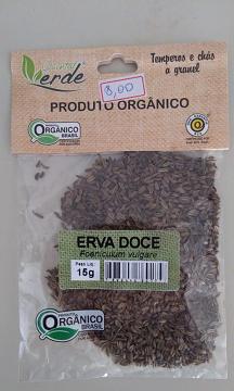 ERVA DOCE ORGÂNICA QUINTAL VERDE