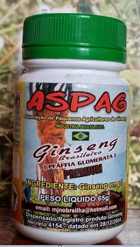 Ginseng Brasileiro (Pfáffia Glomerata) em Pó - Frasco de 65 g