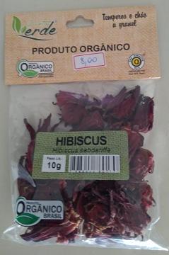 HIBISCUS ORGÂNICO  - QUINTAL VERDE 10g