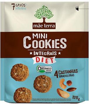 Mini Cookie Integral Orgânico Castanhas- Mãe Terra 25G