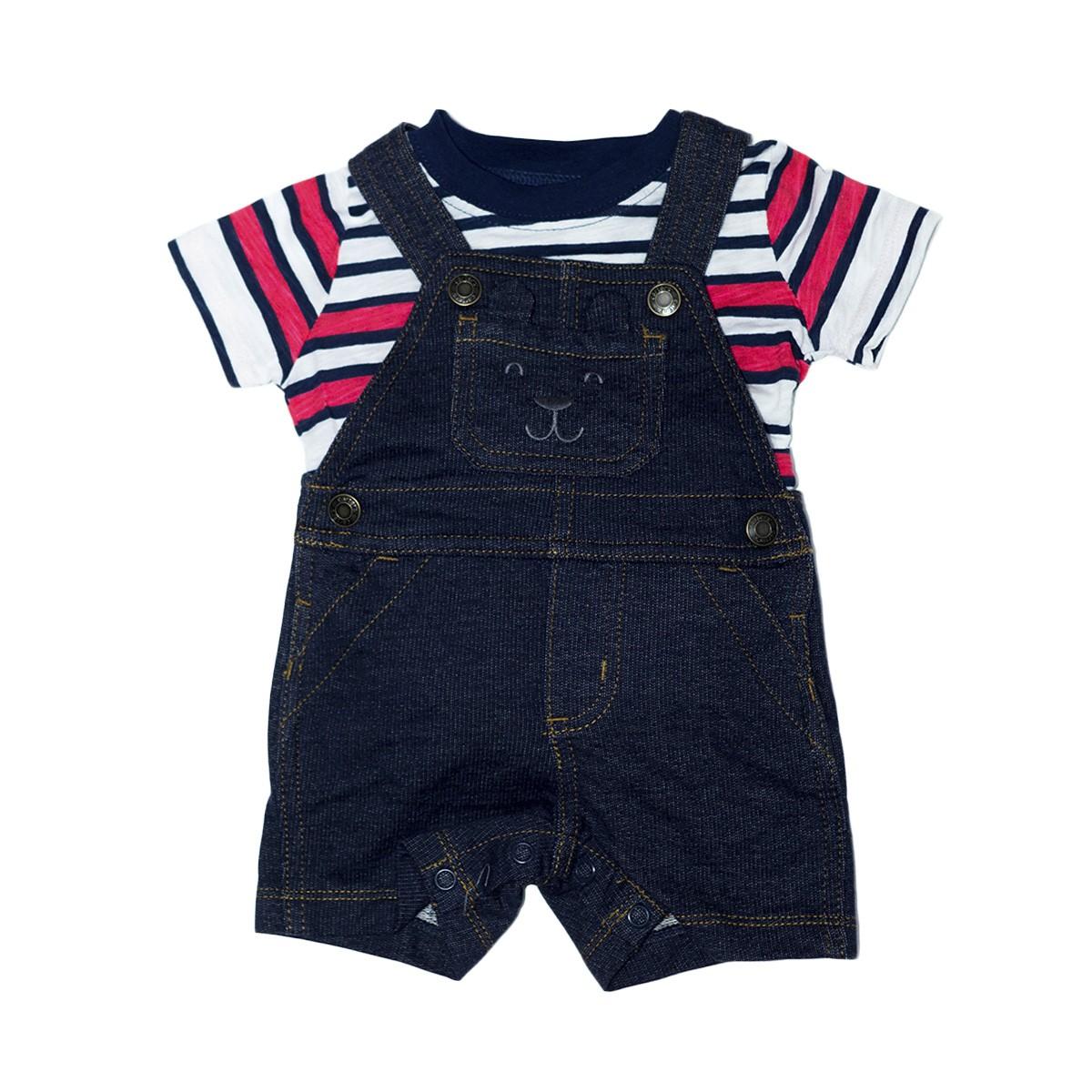 c1bfb67868 Conjunto 2 Peças Carter s Jardineira Jeans Urso - Center 4 baby ...