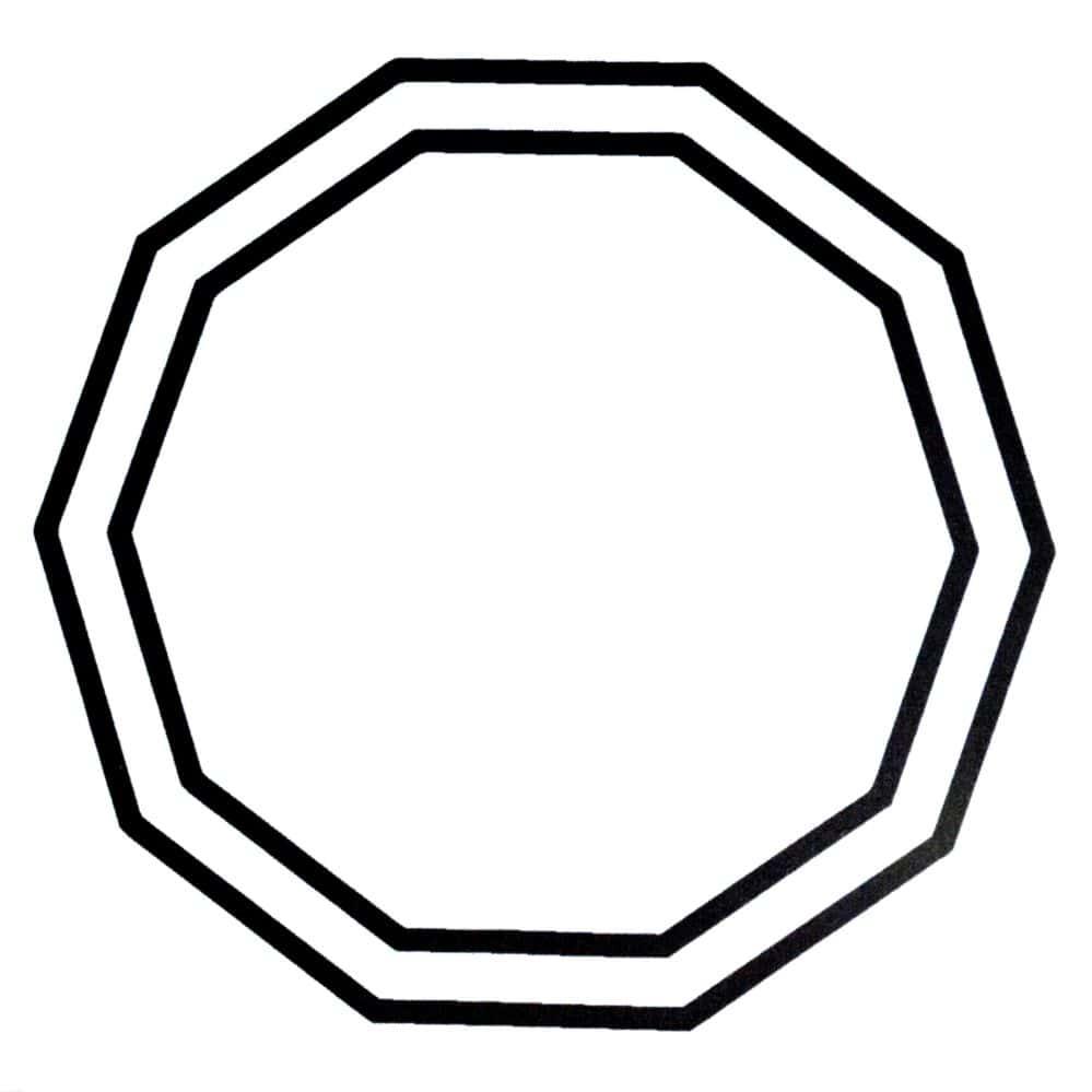 Decágono Duplo -PVC  -  Zots