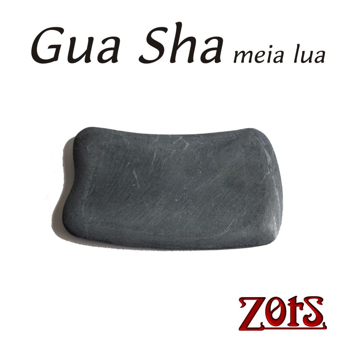 GuaShá meia lua Basalto  -  Zots