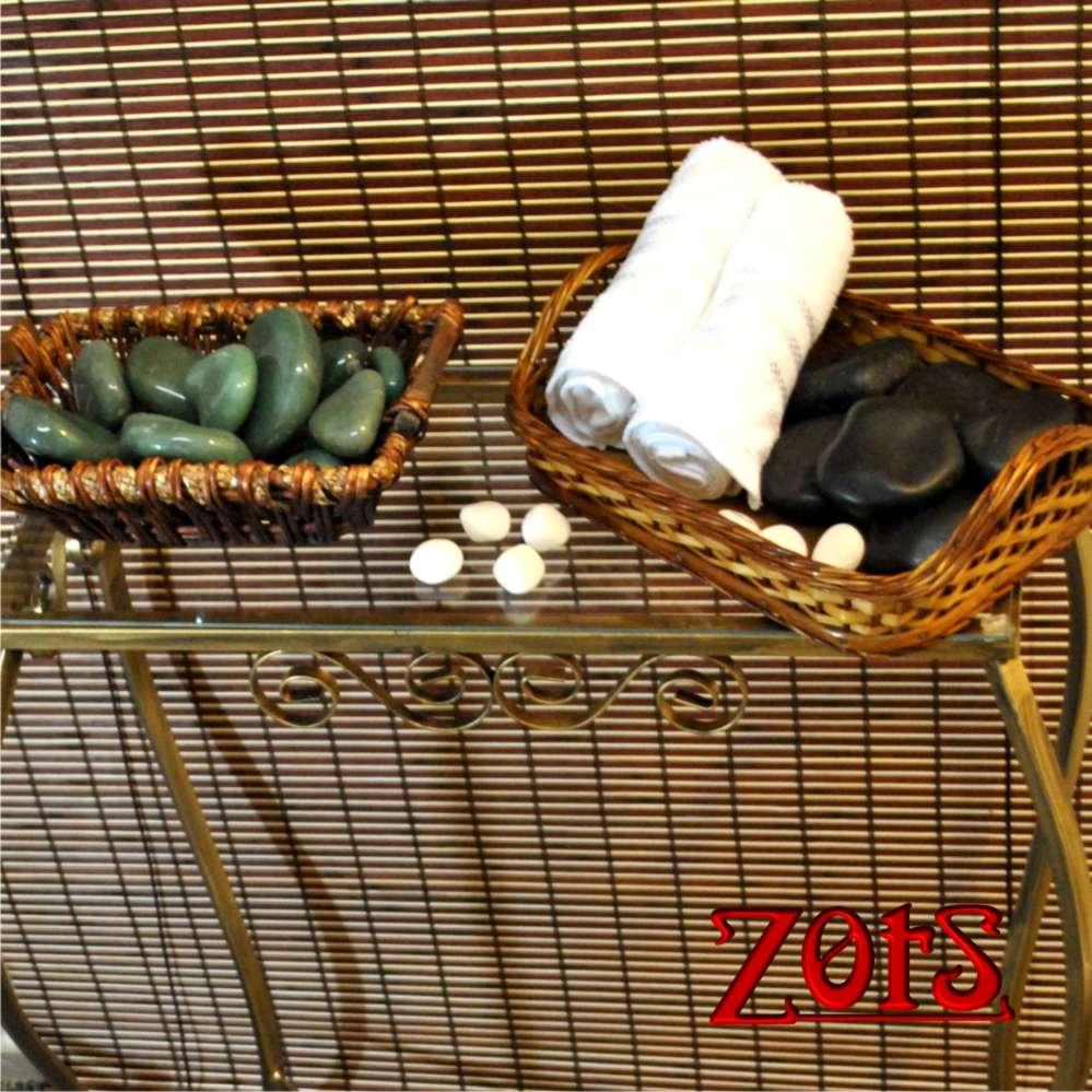 Kit 12 Pedras Quentes Quartzo Verde  -  Zots