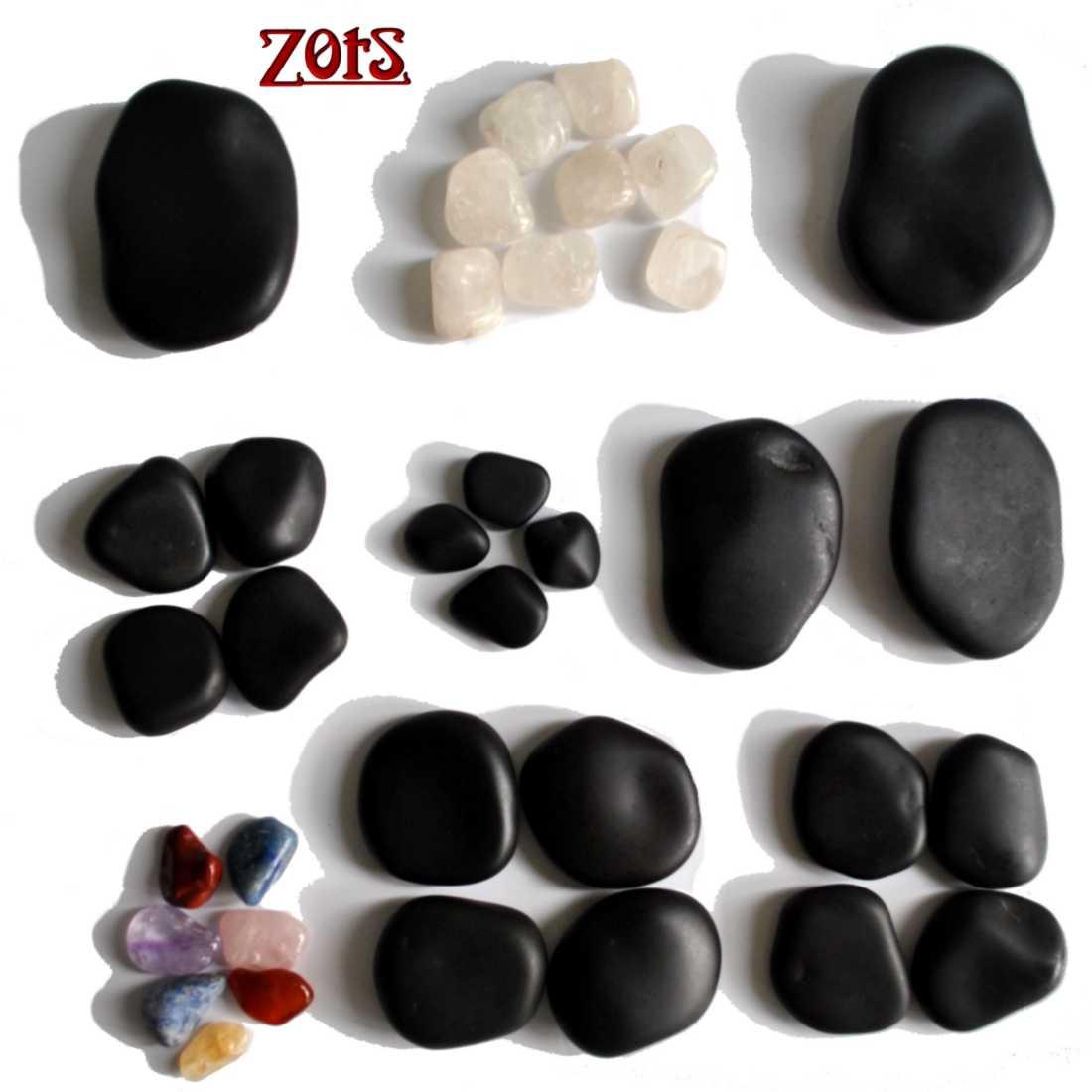 Kit 35 Pedras Quentes Basalto Vulcânico  -  Zots