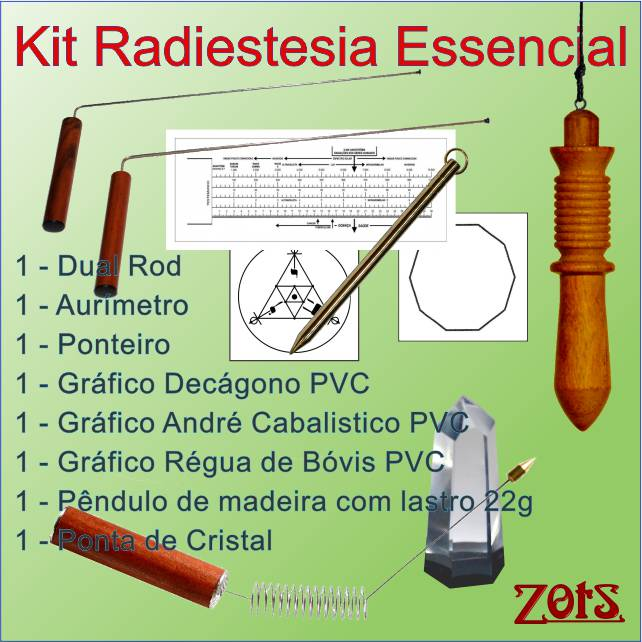 Kit Radiestesia Essencial