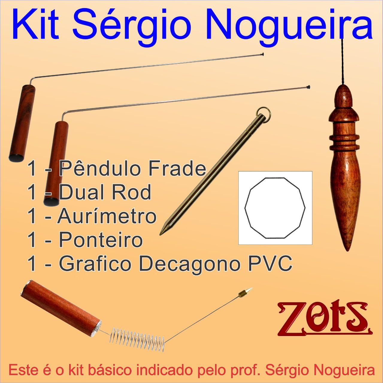 Kit Radiestesia Prof. Sérgio Nogueira  -  Zots