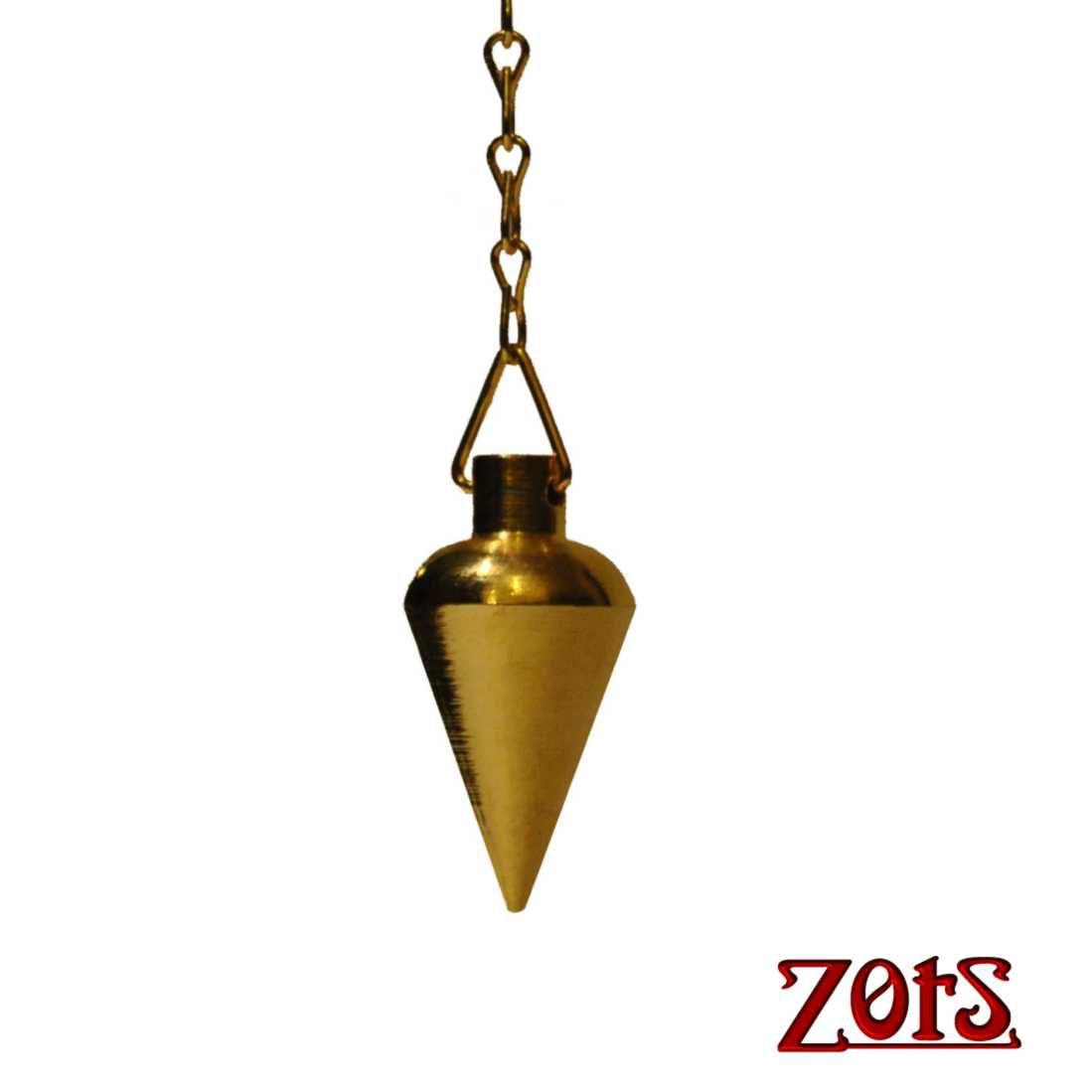Pêndulo Pião Dourado  -  Zots