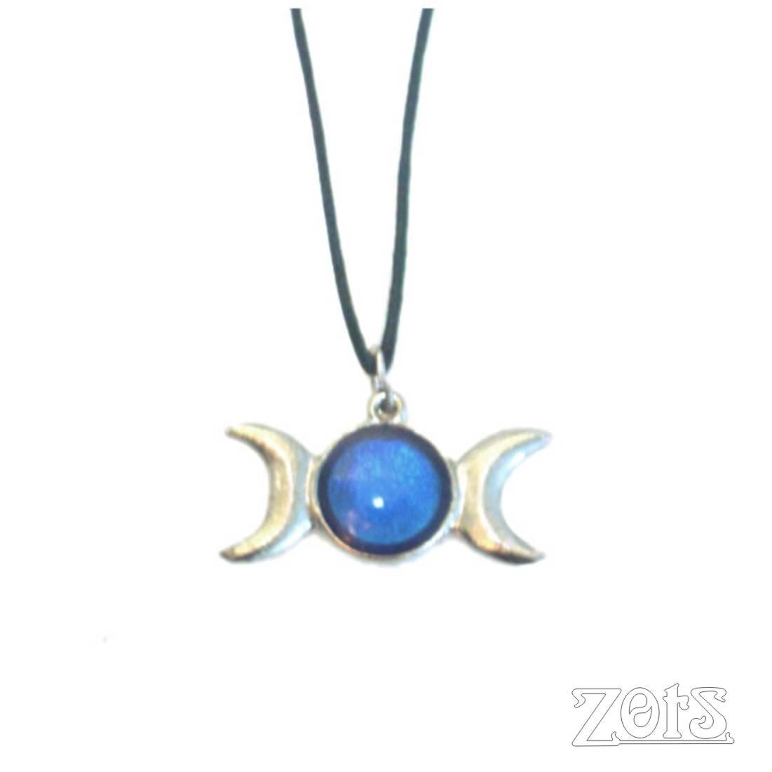 Pingente Triluna G Azul  - Zots - Leila Cabanas Azevedo