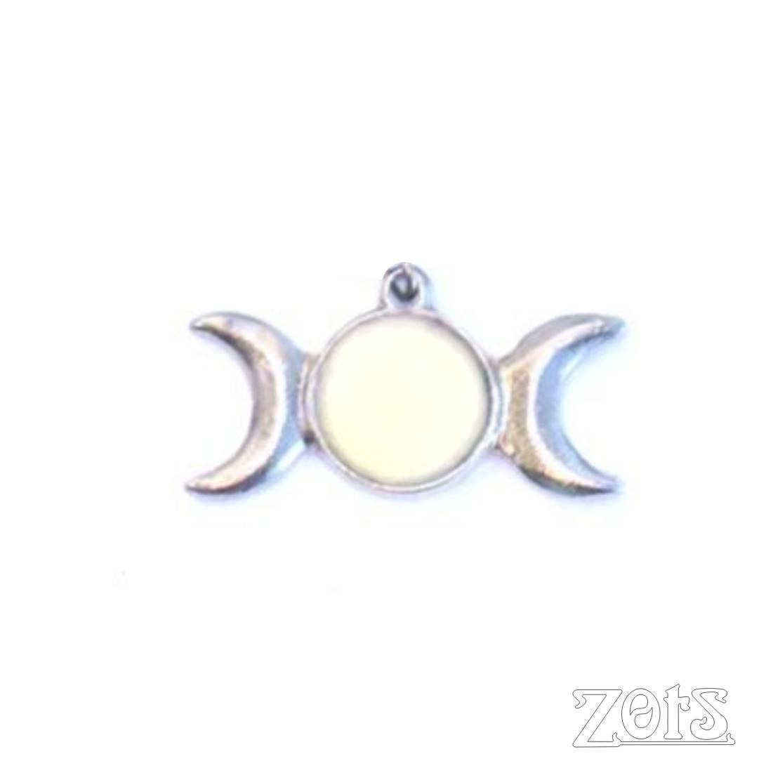 Pingente Triluna G Branco  -  Zots