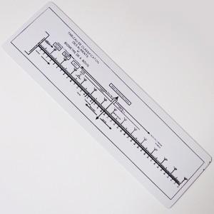 Régua de Bovis PVC  -  Zots