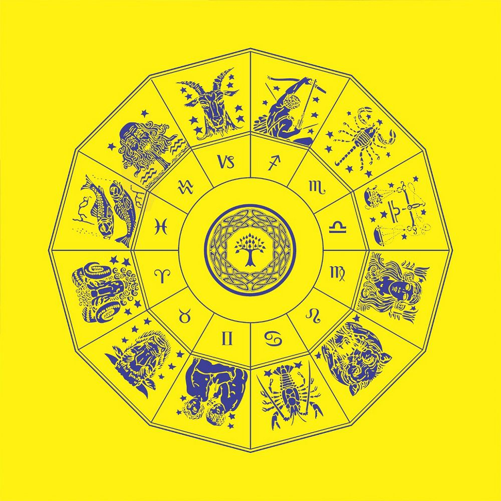 Toalha do Zodíaco - amarelo  -  Zots