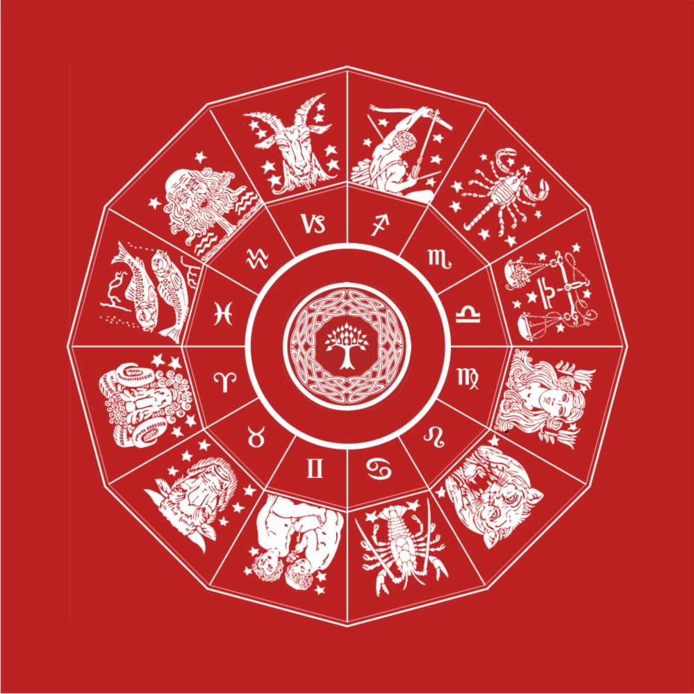 Toalha do Zodíaco - vermelho  -  Zots