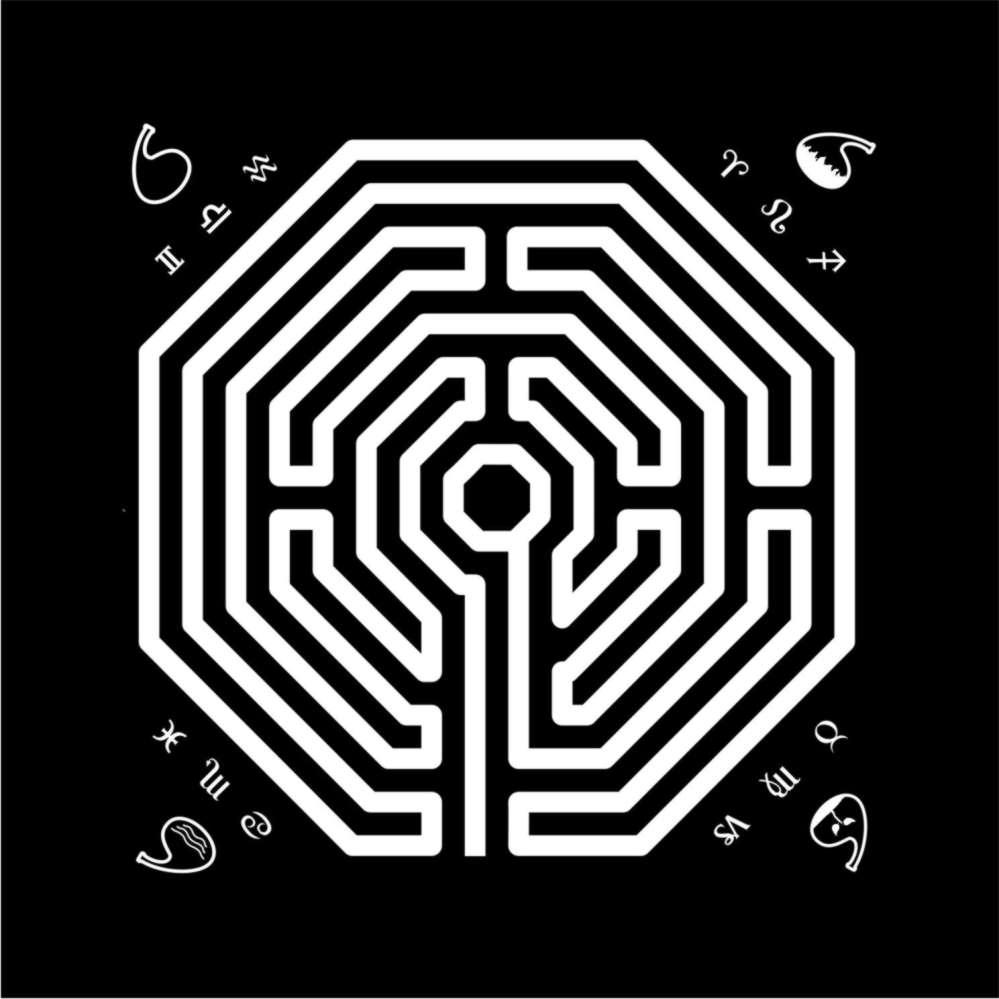 Toalha Labirinto Preta
