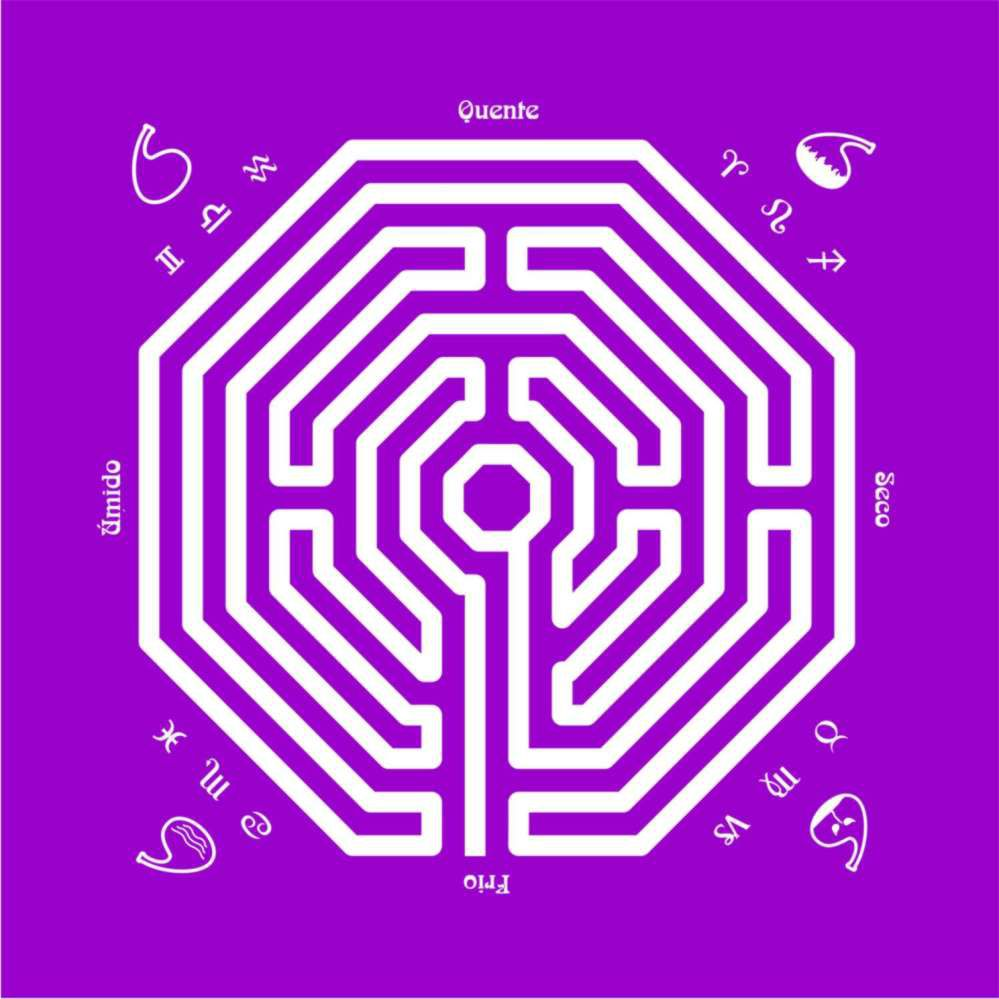 Toalha Labirinto Roxa