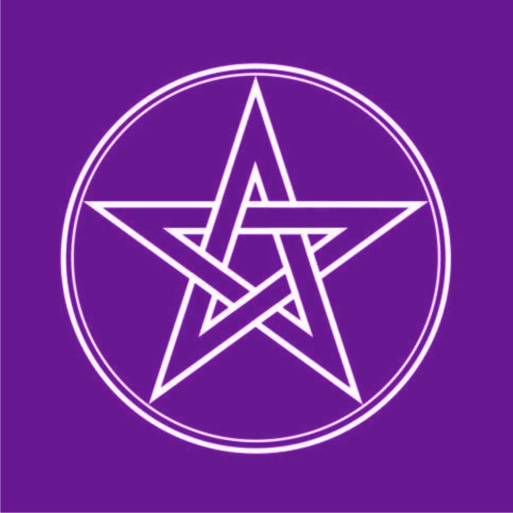 Toalha Pentagrama Roxa