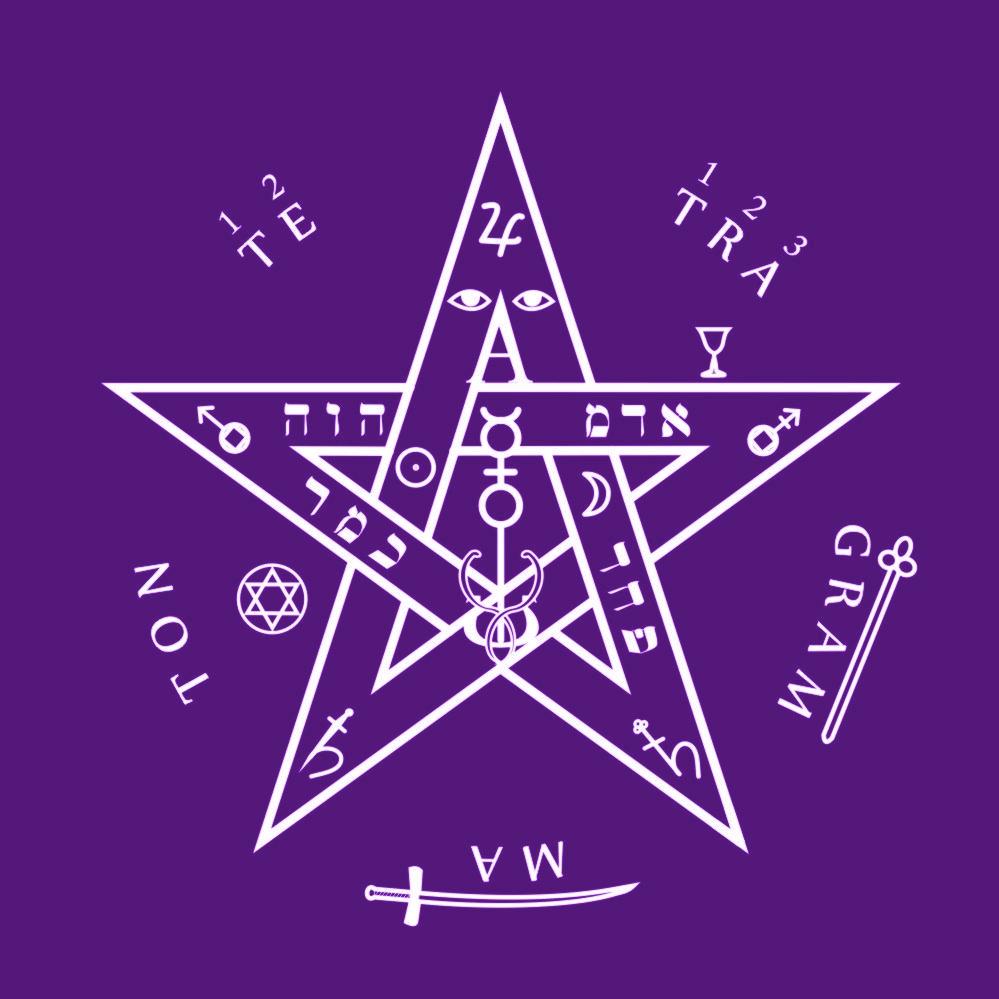 Toalha Tetragrammaton roxa