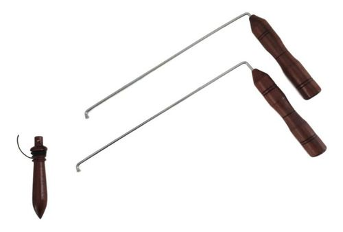 Dual Rod + Pêndulo Modelo 02 Em Madeira Para Radiestesia
